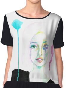 Watercolor Tears Chiffon Top