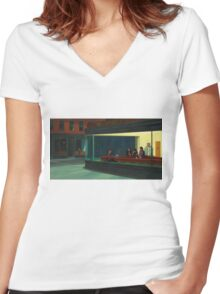 Night Gilmores Women's Fitted V-Neck T-Shirt