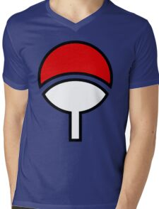 uchiha Mens V-Neck T-Shirt