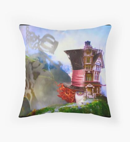 Mad Hatter - Hatters House Throw Pillow
