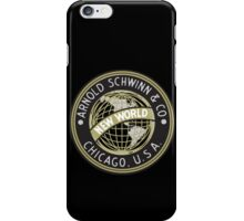 Schwinn vintage Bicycles Chicago USA iPhone Case/Skin