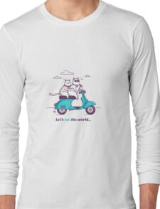 let's see the world! Long Sleeve T-Shirt