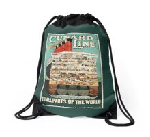 The Cunard Line: To All Parts Of The World!  Drawstring Bag