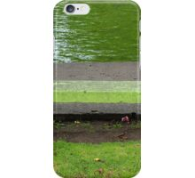 Concrete Bench in a Park iPhone Case/Skin