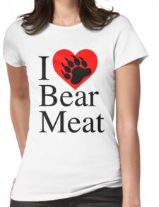 I heart bear meat Womens Fitted T-Shirt