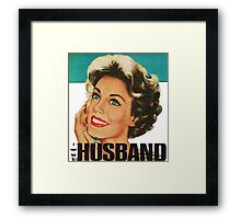 Retro Housewife I Love My Husband Framed Print