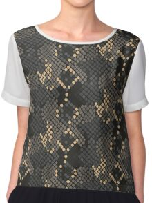 Snake skin artificial seamless texture. Chiffon Top