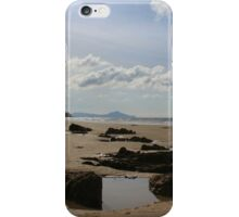 Clouds and rockpools at Mangawhai surf beach iPhone Case/Skin