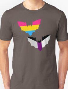 Pan Demisexual Pride Bats Unisex T-Shirt
