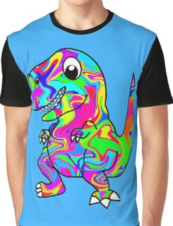 Colorful Dinosaur Graphic T-Shirt