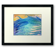 Beach Mosaic Framed Print
