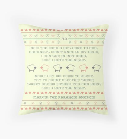 Marvin's Lullaby Cross Stitch Throw Pillow