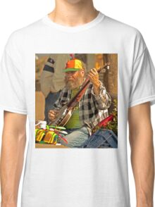 San Francisco Street Musician with Banjo  Classic T-Shirt