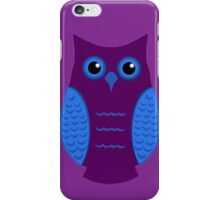 Purple and Cyan Owl iPhone Case/Skin