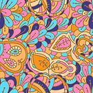 - Abstract fruits pattern -  by Losenko  Mila