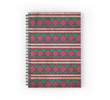 Aztec grunge pattern vintage old print background Spiral Notebook