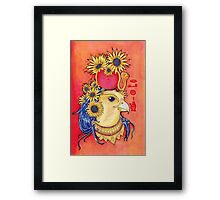 Ra with Sunflowers Framed Print