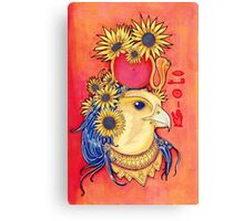 Ra with Sunflowers Canvas Print