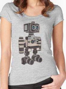 Camera Bot 6000 Women's Fitted Scoop T-Shirt