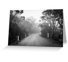 Mount Wellington Misty Road Greeting Card