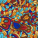 - Abstract fruits pattern 3 - by Losenko  Mila