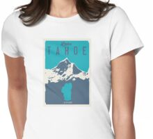 Lake Tahoe. Womens Fitted T-Shirt