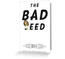 Retro Movie The Bad Seed Greeting Card