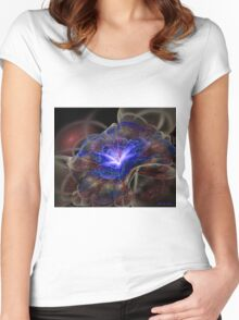 Pretty blue in velure  Women's Fitted Scoop T-Shirt