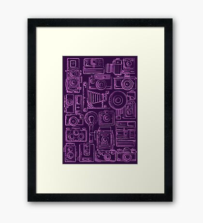 Paparazzi Purple Framed Print