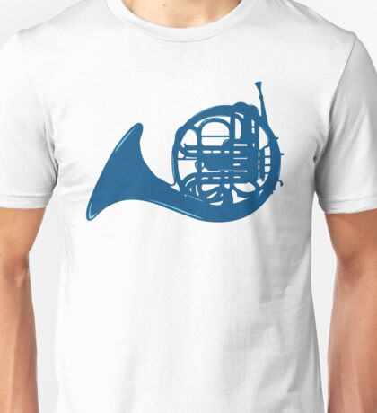 Blue French Horn Unisex T-Shirt