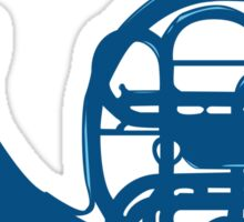 Blue French Horn Sticker