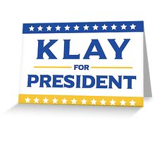 Klay for President Greeting Card