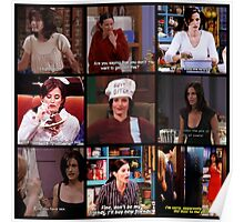 Monica Geller Quotes Collage #3 Poster