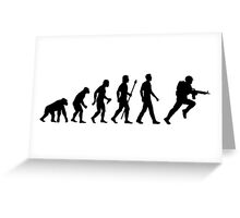 Evolution Of Man And Soldier Greeting Card