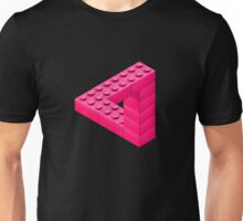 Escher Toy Bricks - Pink Unisex T-Shirt