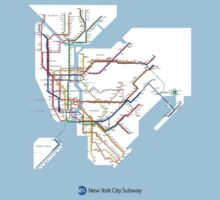 new york subway diagram One Piece - Short Sleeve