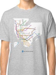 new york subway diagram Classic T-Shirt
