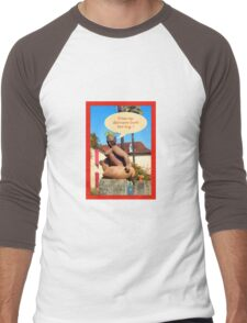 """Sculpture in France """"does my derriere look too big ? Men's Baseball ¾ T-Shirt"""
