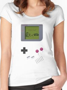 game boy Women's Fitted Scoop T-Shirt