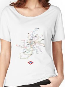 madrid subway Women's Relaxed Fit T-Shirt