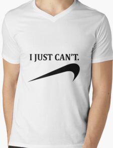 i just can't Mens V-Neck T-Shirt