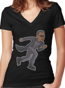RollerBlade Women's Fitted V-Neck T-Shirt