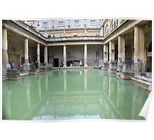 Roman Bath reflection Poster