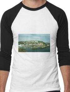 Mevagissy Harbour  Men's Baseball ¾ T-Shirt