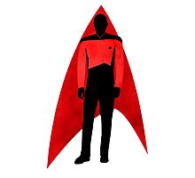 Star Trek - Silhouette Picard Photographic Print