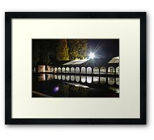 Catering Setup for VIPs In The Early Morning Framed Print