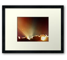 sighs Framed Print