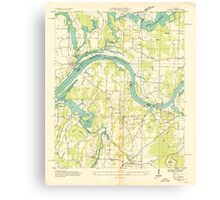 USGS TOPO Map Alabama AL Triana 305232 1936 24000 Canvas Print