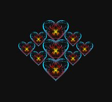Flaming hearts Unisex T-Shirt
