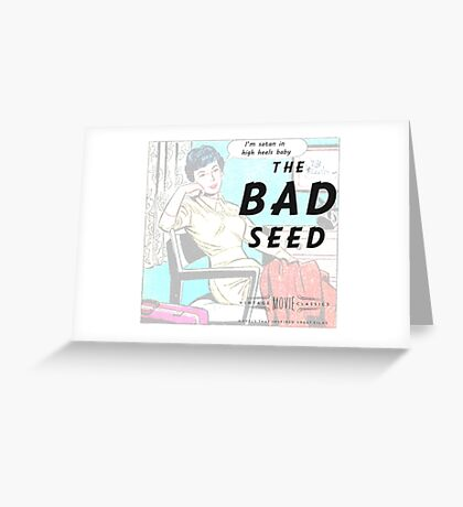 Retro Housewife Humor The Bad Seed Greeting Card